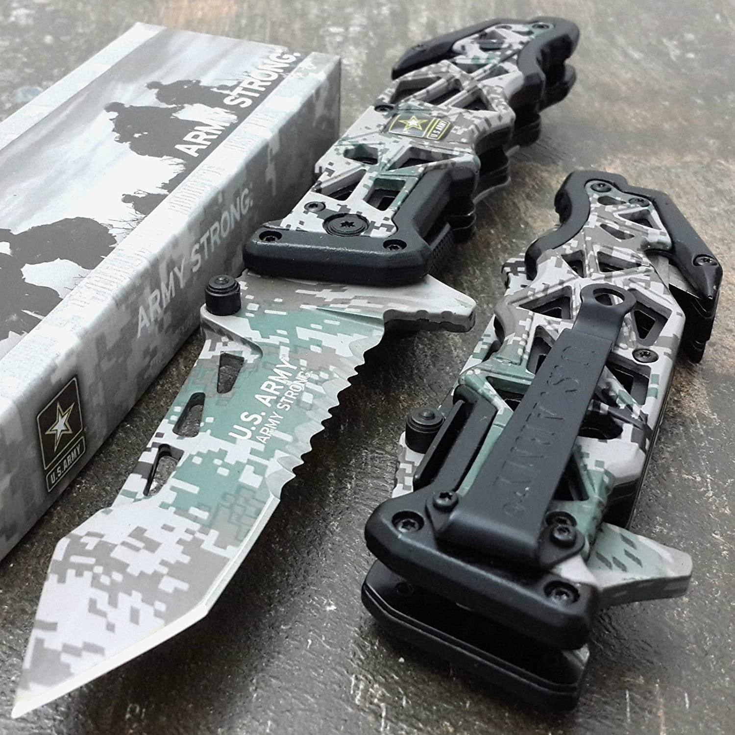 U.S. ARMY KNIVES US ARMY Assisted Knives Officially Licensed GRE