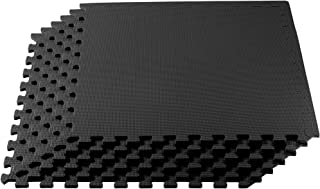 We Sell Mats Multipurpose Exercise Floor Mat with EVA Foam, Interlocking Tiles, Anti-Fatigue, for Home or Gym, 24 x 24 x 3/8 Inches