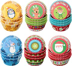 Cupcake Liners Pack of 50 Food Cups Christmas Party Decorations Holiday Party Joy Christmas Baking Cups Kids Christmas Ideas