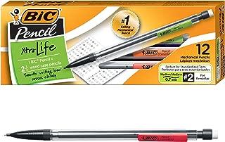 BIC Xtra-Life Mechanical Pencil, Clear Barrel, Medium Point (0.7mm), 12-Count