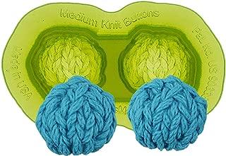 Marvelous Molds Medium Knit Silicone Button Mold | Cake Decorating | Fondant Gum Paste Icing