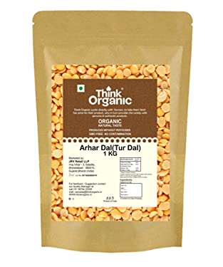 Think Organic- Arhar Dal (Product Without Pesticides/ GMO Free no Contamination) (1)