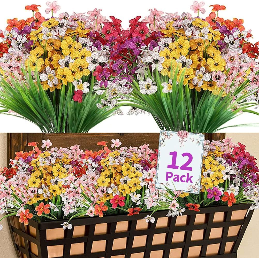 12PC shipfree Artificial Fake 2021 Flowers Decoration for Vi Autumn