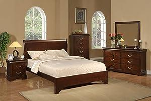 Alpine Furniture West Haven 5 Piece Bedroom Set, Queen Size