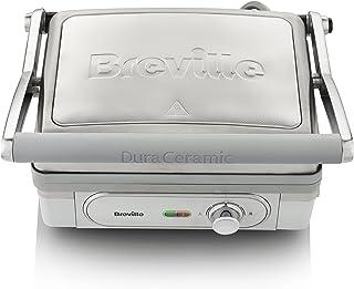 Breville DuraCeramic VHG026X Grill con revestimiento 1800w acabado inox, 1800 W, 0 Decibeles, Parrilla