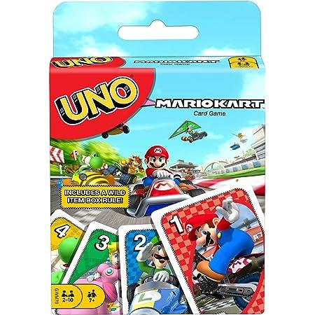 UNO Mario Kart Juego de Cartas con 112 Cartas e Instrucciones para Jugadores de 7 años y más, Regalo para niños, Familia y Adultos