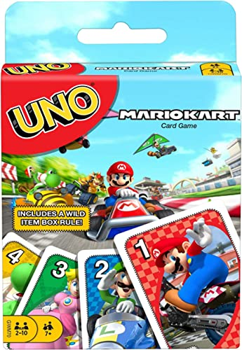 Mattel Games UNO Mario Kart Card Game with 112 Cards & Instructions for Players Ages 7 Years & Older, Gift for Kid, F...