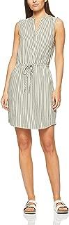 French Connection Women's Stripe Dress, Khaki/Summer White