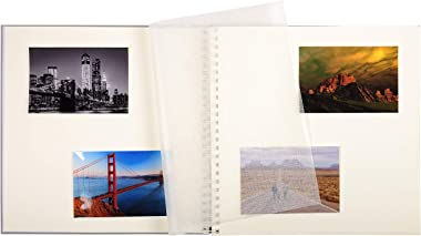 Exacompta - Réf. 16861E - Album Photos à Spirales Zen - 60 Pages Blanches avec feuillets intercalaires Cristal - 360 photos -