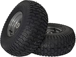 """MARASTAR 21446-2PK 15x6.00-6"""" Front Tire Assembly Replacement for Craftsman Mow, Pack of 2"""