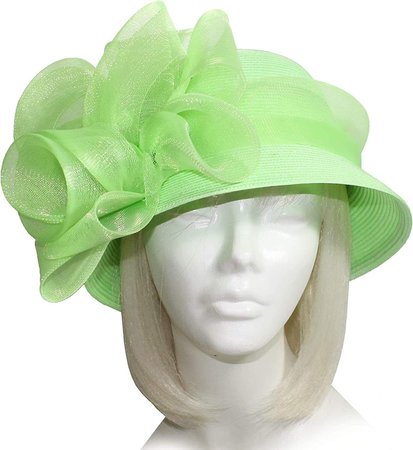Mr. Song Millinery Derby Ascot Easter Tagline Straw Bell Cloche Hat  ST235