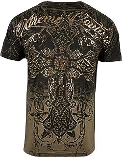 by Affliction Men's T-Shirt DECRETUM Biker MMA