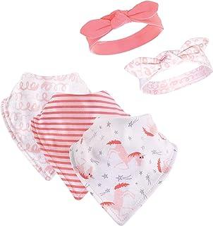 Hudson Baby Baby Cotton Bib and Headband Set