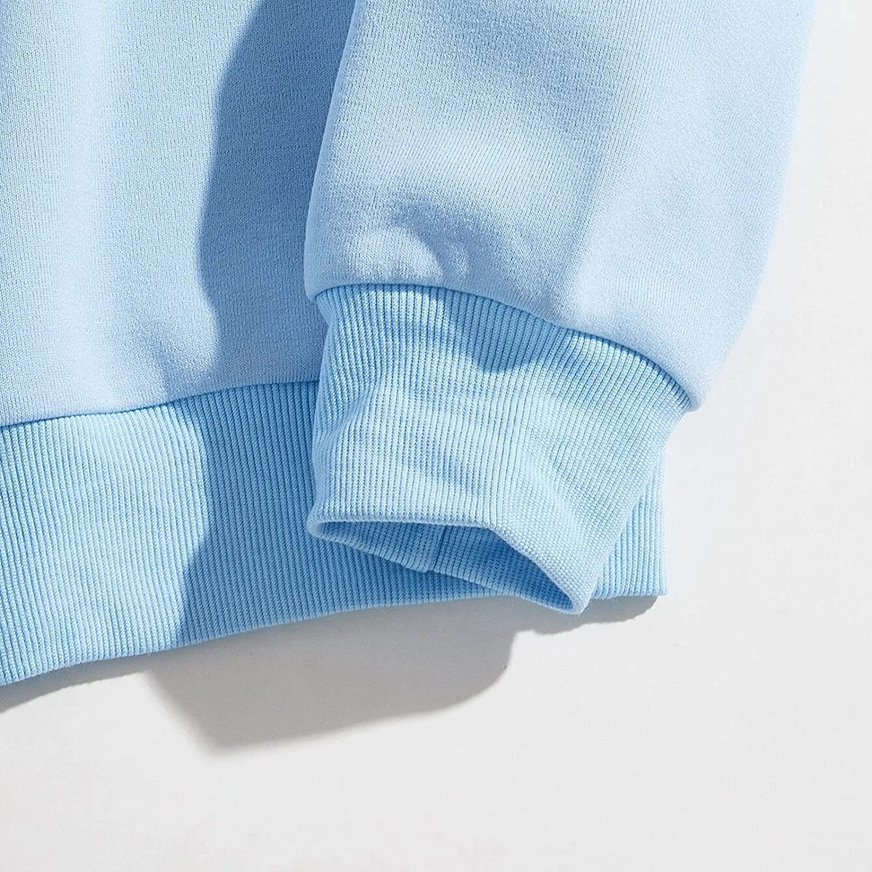 Sweatshirts for Women Harajuku Loose Brooklyn Print Pullover Blouse Top Long Sleeve Crew Neck Casual Shirts