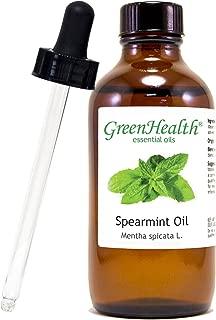 GreenHealth Spearmint – 4 fl oz (118 ml) Glass Bottle w/Glass Dropper – 100% Pure Essential Oil