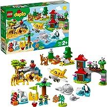 LEGO DUPLO Town - Animales del Mundo Nuevo juguete de construcción didáctico con Animales, incluye una Avioneta de Juguete para moverte de un Continente a Otro (10907)