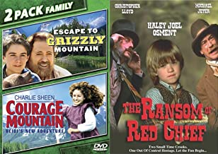 Kids With Family Movie Night 3-Movie Bundle - The Ransom of Red Chief, Escape to Grizzly Mountain & Courage Mountain: Heigi's New Adventure 2-DVD Collection