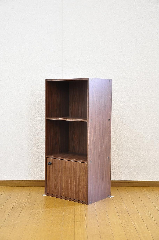 博物館繕う安価なマルチカラーボックス 1D 【NEST】 1ドアタイプ ET-1D (ダークブラウン)