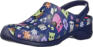 Zone Women's Slip On 10 B(M) US Navy-Floral-Owl