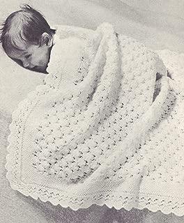 free vintage baby shawl knitting patterns