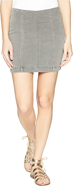 39827d3e99769 Free People. Zip It Up Printed Mini Skirt.  78.00. Light Grey