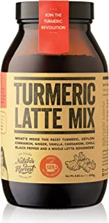 Nature's Harvest Turmeric Latte Mix | Organic Golden Milk Tur Latte Powder for Hot & Iced Coffee, Tea & More| 7 Powerful Spices & Healthy Anti-Inflammatory Curcumin Infusion | 125 Servings