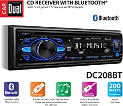 Dual Electronics DC208BT Multimedia Detachable 8 Character LCD Single DIN Car Stereo with Built-in Bluetooth, CD, USB & MP3 Player