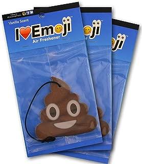 I EM JI Emoji Poo Air Freshener Vanilla Scent 3-Pack