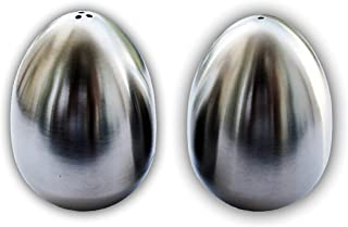 Salt and Pepper Shakers - Stainless Steel - Set of 2, Cute Eggs Salt Shakers - Silver Spice Box Dispenser, Kitchen Accesso...
