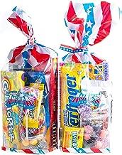 Go/ûts Unies de USA Am/érique Un grand sac-cadeau complet de la c/él/èbre confiserie assortiment des Etats-Unis soigneusement emball/é dans un sac /étoiles et rayures.