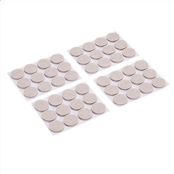 AmazonBasics Round Felt Furniture Pads, Linen, 1'', 48 pcs