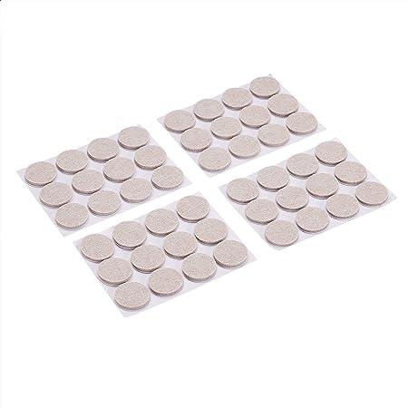 Amazon Basics - Almohadillas de fieltro redondas para muebles, lino, 2.54cm, 48unidades