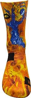 Brutal Baloncesto Jugador Rojo Active Calcetines con Diseño Motivo Hecho a Mano Calcetines de impresión 3D para Baloncesto Respirable Coolmax Calcetines deportivo spara alto rendimiento