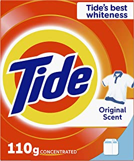 Tide Powder Laundry Detergent, Original Scent, 110 G