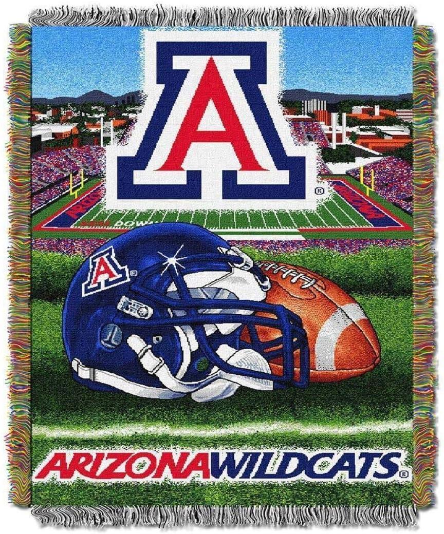NCAA Arizona Wildcats Throw Blanket And Industry No. New arrival 1 Bl 48x60 Navy Cardinal