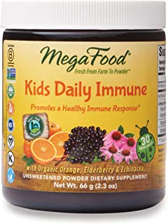 MegaFood - Kids Daily Immune Booster, Promotes Well-being and Year Round Health with Echinacea and Organic Oranges, Vegan,...