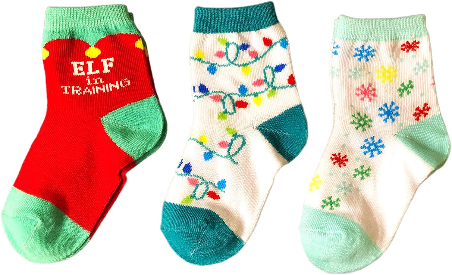 Christmas Kid's Novelty Free shipping anywhere in the Purchase nation Socks Bundle Chr Training Elf - In