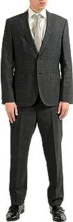 Hugo Boss Johnstons2/Lenon Men's 100% Wool Plaid Two Button Suit SZ US 42S IT 52S
