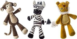Mary Meyer Loosey Goosey Stuffed Animal Soft Toys, Set of 3, 9-Inches, Safari Monkey, Lion & Zebra