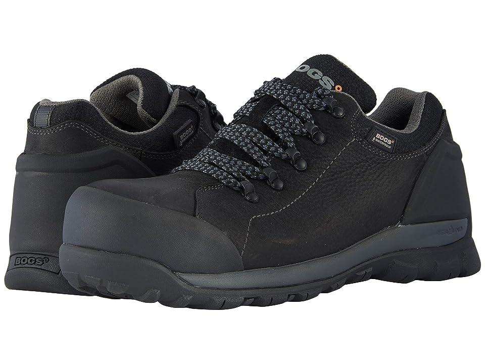 Bogs Foundation Leather Low Comp Toe (Black) Men