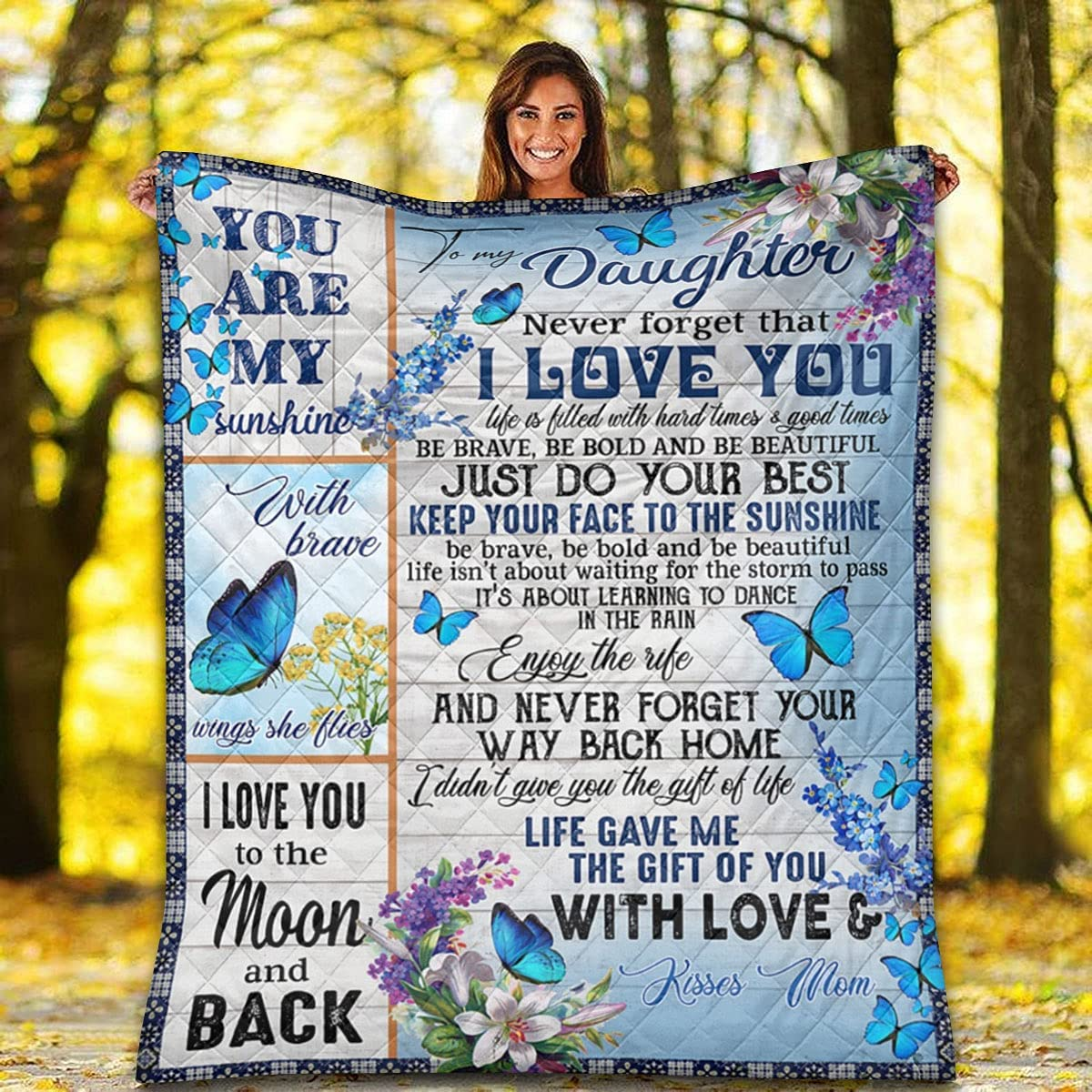 Butterfly Quilt - to Max 85% OFF Direct stock discount My You are Sunshine Daughter Pat