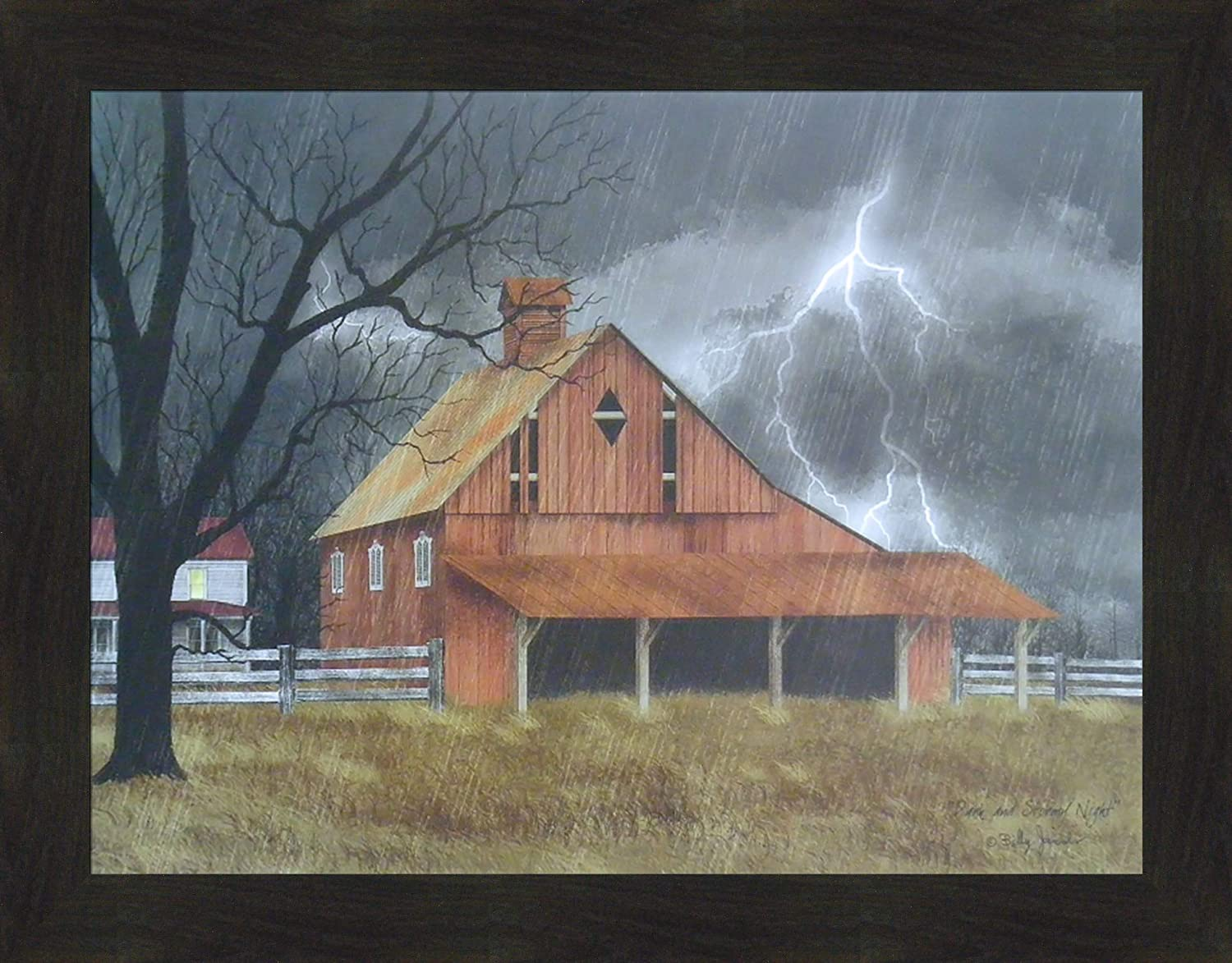 Home Cabin Décor Dark and Stormy 22x28 Billy Classic Jacobs Red Night Sale Special Price by
