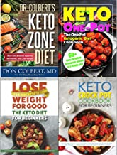 Keto zone diet dr colbert [hardcover], one pot ketogenic diet cookbook, keto diet for beginners and keto crock pot cookbook 4 books collection set