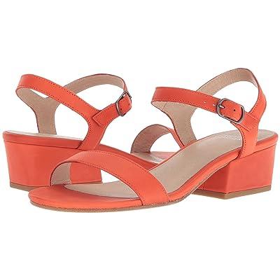 Eileen Fisher Olean (Blood Orange Leather) High Heels
