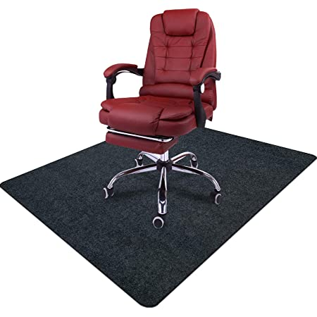 Chair Mat, Office Chair Mat for Hardwood Floor Computer Desk Mat for Office Chair Floor Protector for Rolling Chair, 35 x 47 Inches 0.16 Thick Professional Protector Mat (Gray)