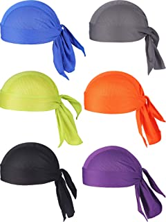 Chuangdi Sweat-Wicking Beanie Cap Skull Cap, Quick-Drying Pirate Hats for Men and Women Favors (Colorful Caps A, 6 Packs)