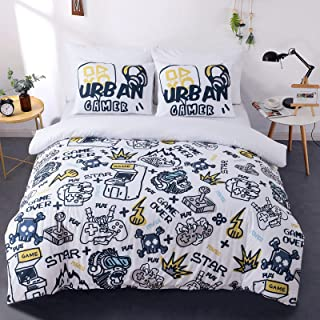 Duvet Cover Soft and Breathable Brushed Microfiber with...
