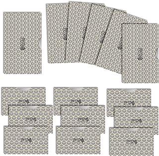 LOE カードケース RFID 磁気 スキミング 防止 クレカ & 通帳 サイズ (ノルディック柄 グレー)