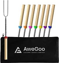 AweGoo Marshmallow Roasting Sticks - Smores Sticks - Campfire Roasting Sticks - Smores Skewers - Campfire Sticks - 8 Smores Sticks for Fire Pit