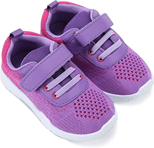 Mallofusa Toddler Running Shoes Boys Girls Lightweight Breathable Sneakers Washable Strap Athletic Tennis Shoes for Kids' Running Walking
